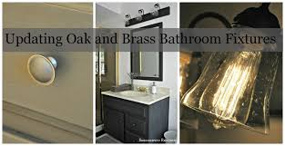 serendipity refined blog how to update oak and brass bathroom