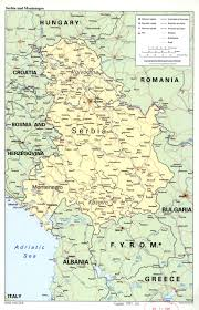 map of roads large detail political map of serbia and montenegro with marks of