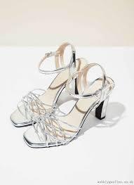 heeled silver sandals shoes adolfo dominguez shop online