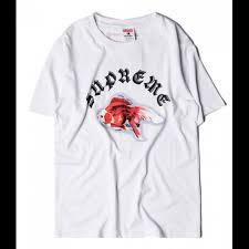supreme shirts new supreme goldfish t shirt buy supreme