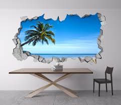 tropical beach 3d wall moonwallstickers com tropical beach 3d wall