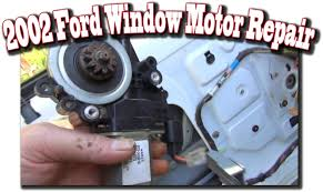 2002 Windstar Window Motor Repair Youtube