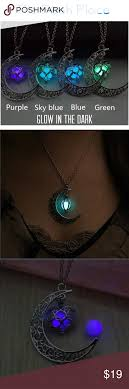 glow in the necklaces crescent moon glow in the necklace boutique crescents