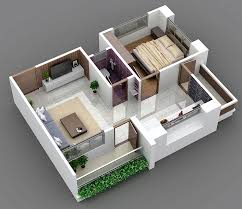 outstanding home plan 3d 1bhk photos best image contemporary