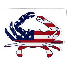Free American Flag Stickers Usa American Flag Crab Sticker U2013 Route One Apparel
