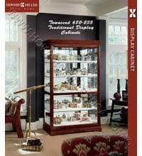 Curio Cabinets Under 200 00 Howard Miller Contemporary Curved Display Curio Cabinet 680549