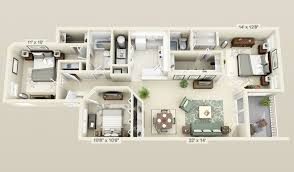 50 Three 3 Bedroom Apartment House Plans Architecture Design House Plan Designs In 3d