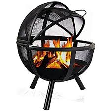 fire pit black friday amazon com landmann usa 28925 ball of fire outdoor fireplace