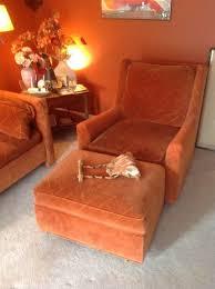 Rust Sofa Estate Tag Sale Inside Private Home In Township Of Washington Nj