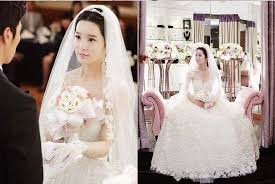 wedding dress brokat the grass k drama wedding dress