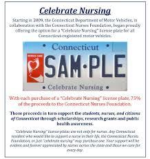 celebrate plate celebrate nursing license plate connecticut nurses foundation