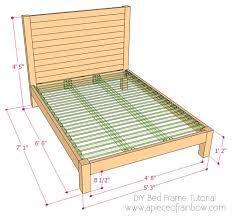 Diy Bed Frames Diy Bed Frame And Wood Headboard A Of Rainbow