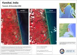 India Satellite Map by Satellite Map Images Showing The Impact Of The 2004 Tsunami On