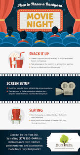 how to throw a backyard movie night by the yard inc