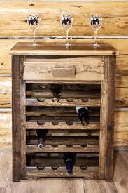 antler wine rack rustic wine cabinets and log wine storage