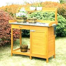 potting table with sink garden potting tables click here to download the to enlarge garden