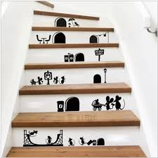 compare prices on stairs decoration wall stickers online shopping removable decorative decals vinyl waterproof diy wall stickers cartoon mouse story stickers home stairs decorative wall