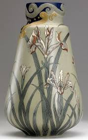 mettalach villeroy u0026 boch art nouveau tall and rare vase