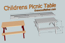kids picnic table plans childrens picnic table plans the woodfather