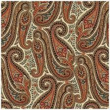 cotton quilt fabric civil war album 11 reproduction paisley brown