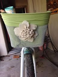 diy bicycle basket bike basket liner i bought a bell bike basket