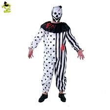 killer clown costume men s blood killer clown party costumes men plus size jumpsuit