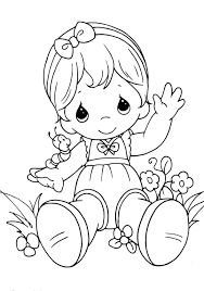 precious moments sitting relaxed coloring pages coloring pages