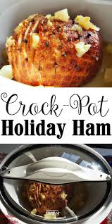 thanksgiving ham hack crockpot gathered in the kitche