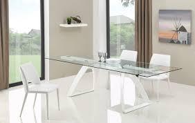 harvey modern extendable glass dining table