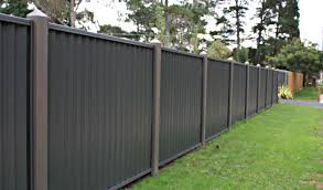 metal panel fencing colour fence