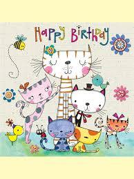 card invitation design ideas happy birthday cat card funny and