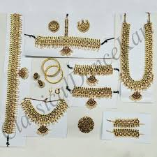 temple jewellery kemp set for bharatanatyam and kuchipudi