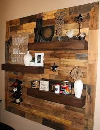 dining room remodel pallet wall floating shelves pallets