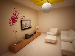attractive and enjoyable living room with smart place for tv room
