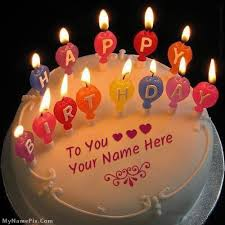 how to your birthday cake online write your name on best candles happy birthday cake picture