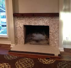 mixed quartz fireplace surround pebble tile shop use different