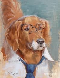 white collar golden retriever painting by viktoria k majestic