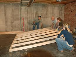 Basement Framing Ideas How To Frame A Floating Wall How Tos Diy