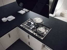 6 black kitchen counter top interior design ideas