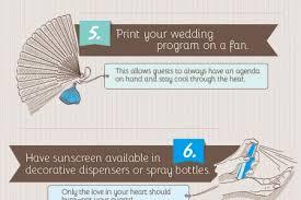 Wedding Program On A Fan The Wedding Planner Visual Ly