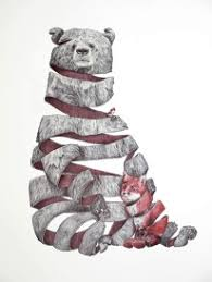 fox ribbon fox ribbon drawing and animal inspiration designspiration