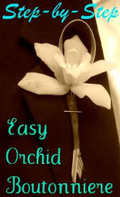Orchid Boutonniere How To Make An Easy Orchid Boutonniere