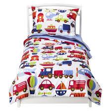 bacati toddler bedding set 4pc transportation 4pc target