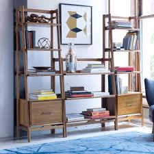 Low Narrow Bookcase by Mid Century Bookshelf Low West Elm Uk