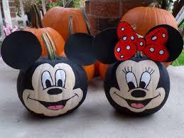 mickey pumpkin painting pumpkins halloween minnie mouse
