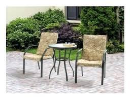 Patio Furniture Sets Walmart by Rose 3 Piece Patio Bistro Table Set Hawthorne 3 Piece Metal Patio