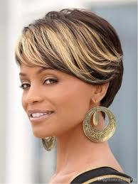 ombre hair color fro african american women new ombre short wigs for black women black rooted side bangs