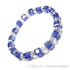 glass beads bracelet images 2018 8mm square crystal glass beads bracelet from wangxueweidgzh jpg