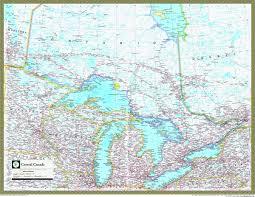 map of canada atlas central canada atlas wall map maps