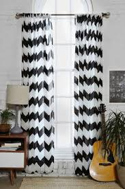 Gray And White Chevron Curtains Mainstays Chevron Polyester Cotton Curtain Panels Set Of 2